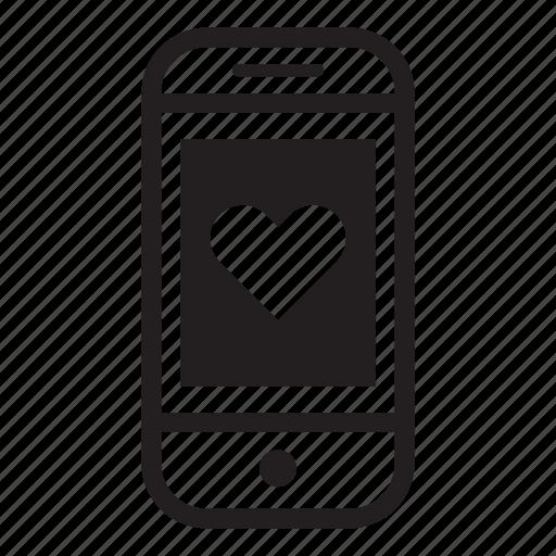 device, love, mobile, phone, smartphone icon