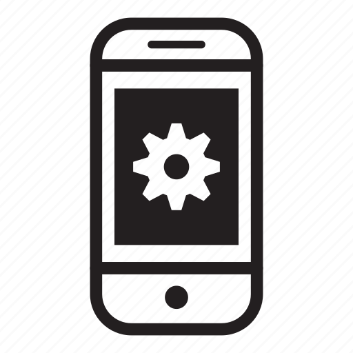 device, mobile, phone, settings, smartphone icon