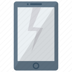 cell, crash, device, mobile, phone, smart, smartphone icon