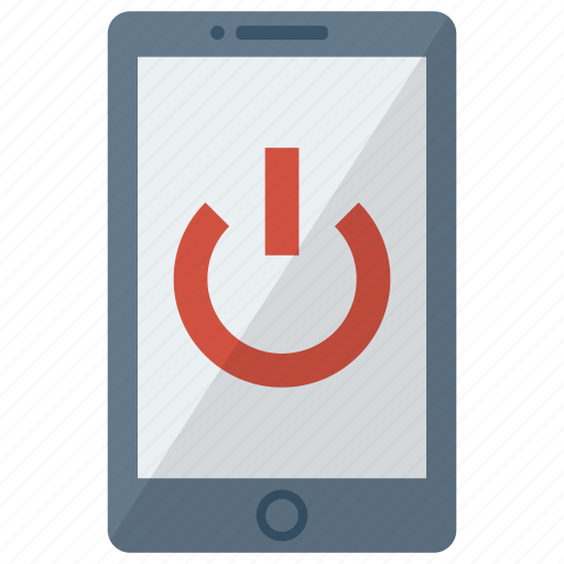 cell, device, mobile, phone, power off, smart, smartphone icon