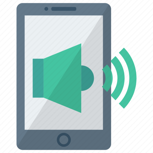 cell, device, mobile, phone, smart, smartphone, speaker icon