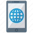 cell, device, globe, mobile, phone, smart, smartphone icon