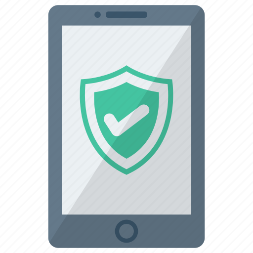 cell, device, mobile, phone, security check, smart, smartphone icon