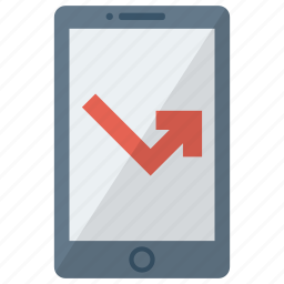cell, device, miss call, mobile, phone, smart, smartphone icon