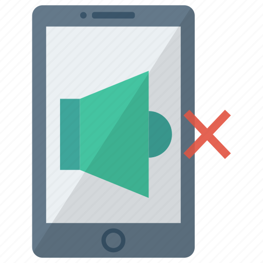 cell, device, mobile, mute, phone, smart, smartphone icon