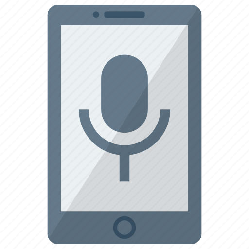 cell, device, mic, mobile, phone, smart, smartphone icon