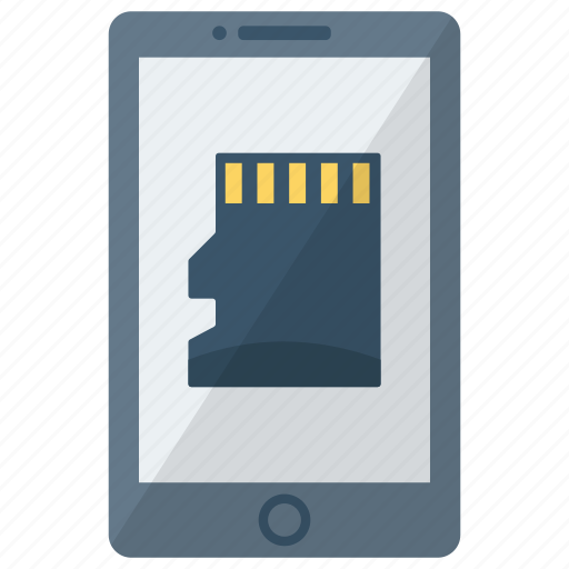 cell, device, memory card, mobile, phone, smart, smartphone icon