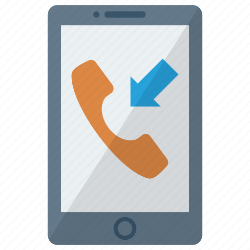cell, device, incoming call, mobile, phone, smart, smartphone icon