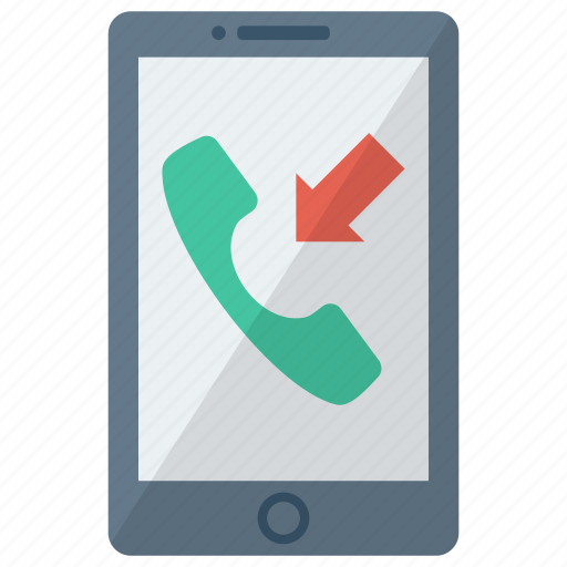 cell, device, incoming miss call, mobile, phone, smart, smartphone icon