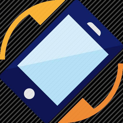 mobile, rotate, rotation, smartphone icon