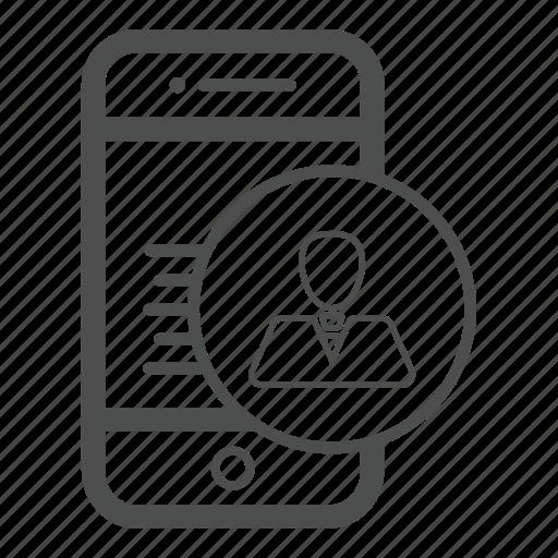 app, avatar, call, mobile icon