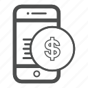 app, bill, cash, mobile, money icon