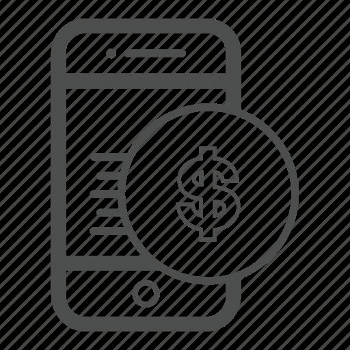 Mobile Money App Bill Cash Icon