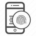 app, fingerprint, mobile icon