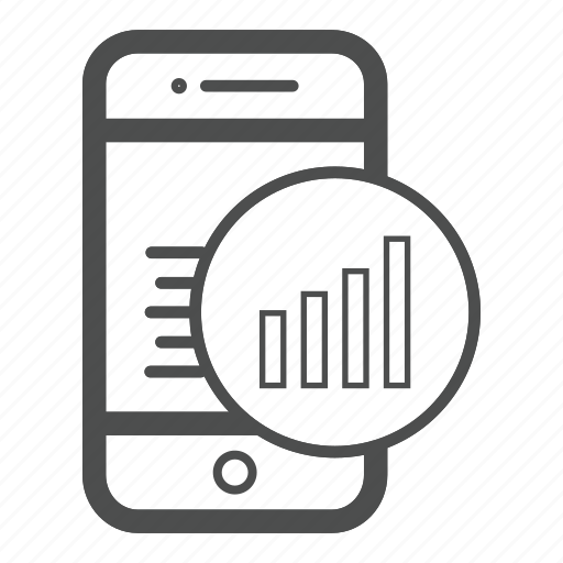 app, chart, mobile, price icon