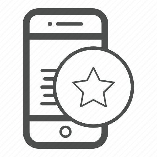 Mobile, app, ratting icon