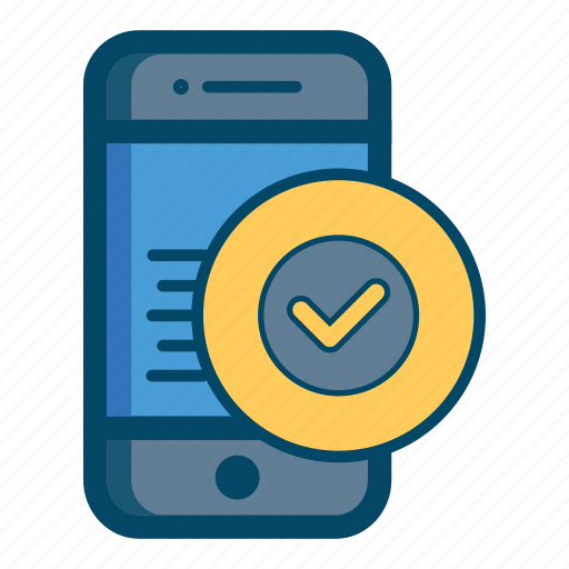app, apps, authentication, check, mobile, ok, smartphone icon
