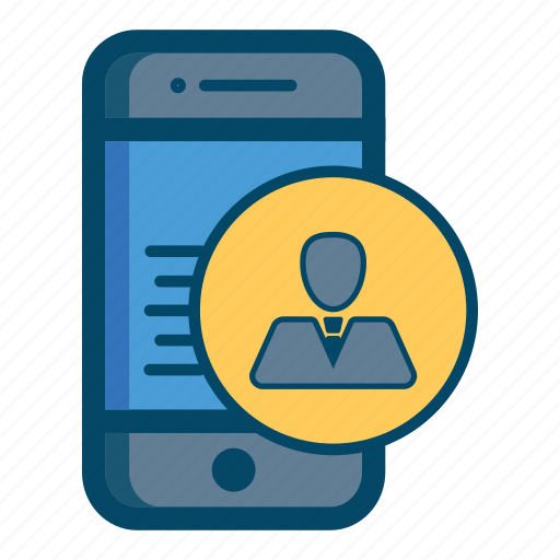 account, app, apps, avatar, call, mobile, smartphone icon