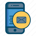 app, apps, email, mail, message, mobile, smartphone icon