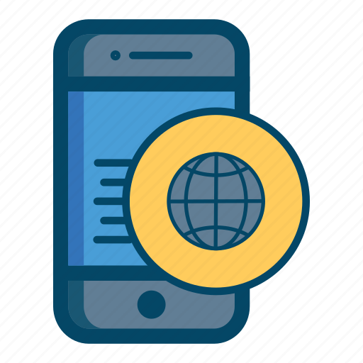 app, apps, connect, mobile, online, smartphone, world icon