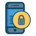 app, apps, care, lock, mobile, safe, smartphone icon