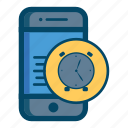 alarm, app, clock, mobile icon