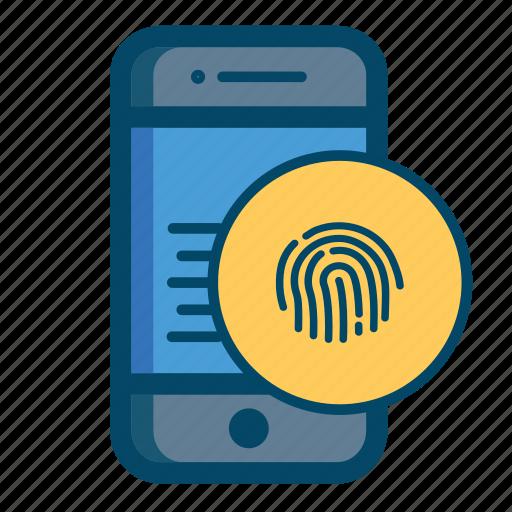 app, fingerprint, mobile icon