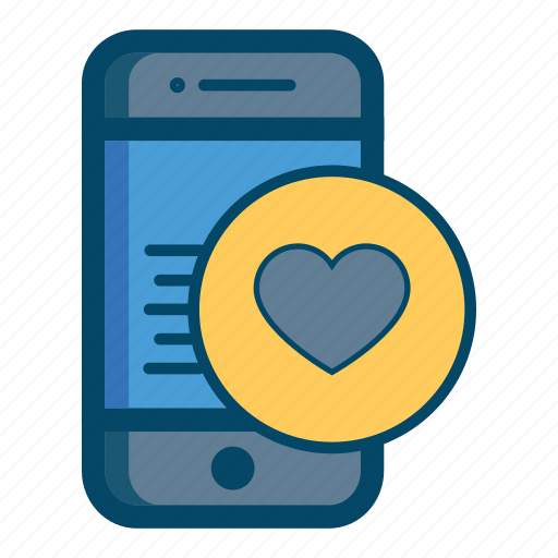 app, heart, love, mobile icon