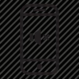 device, mobile, mute, phone, smartphone, volume icon