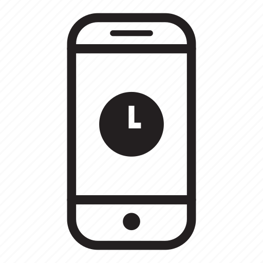 device, mobile, phone, smartphone, time icon
