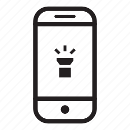 device, mobile, phone, smartphone, torch icon
