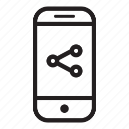 device, mobile, phone, share, smartphone icon