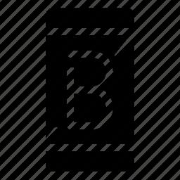 b, phone, smartphone icon