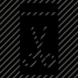cut, phone, smartphone icon