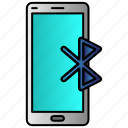 bluetooth, connection, mobile, phone icon