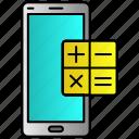 calculat, calculator, mobile, phone icon