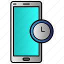 clock, mobile, phone, time icon