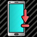 download, mobile, processing, upload, uploading icon