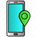 gps, location, map, mobile, phone icon