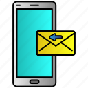 inbox, incoming, message, mobile, phone icon