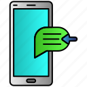 inbox, message, mobile, phone, receive icon
