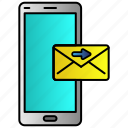 inbox, message, phone, send, sending icon