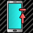 loading, mobile, phone, ubloading, upload icon