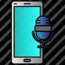 microphone, mobile, record, recorder, sound icon