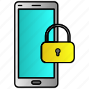 lock, locked, passcode, phone, screen icon