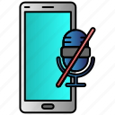 microphone, mobile, phone, silent icon