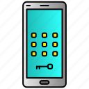 passcode, password, phone, privacy, screen icon