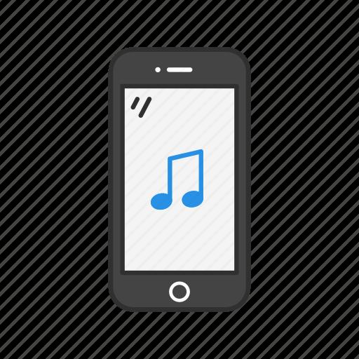 mobile music, mobile tunes, music, ringtone icon