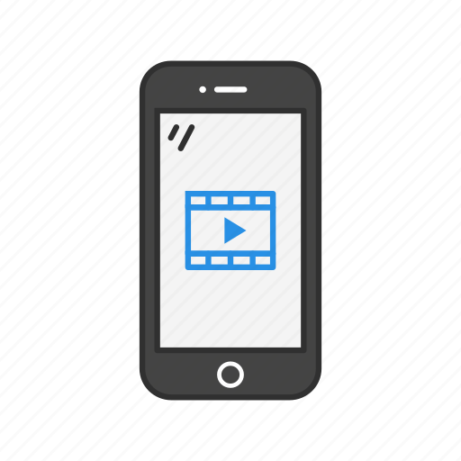 Phone, smartphone, video, mobile videos icon