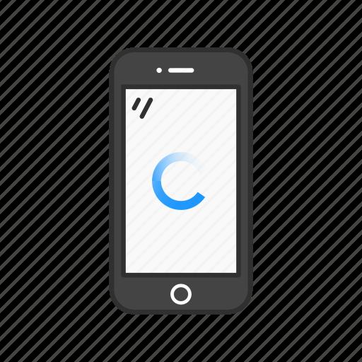 loading, loading phone, phone, processing icon